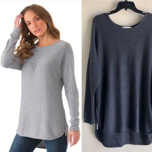 [Michael Michael Kors] High Low Tunic Zip Sweater